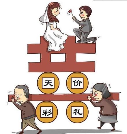 结婚女方收天价彩礼违法吗?